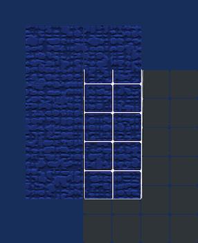 polycrystalline solar panel overlapping a monocrystalline panel